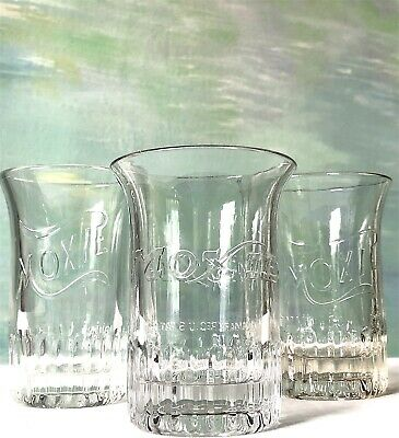 Rare Antique Moxie Drinking Glasses Group Of Three