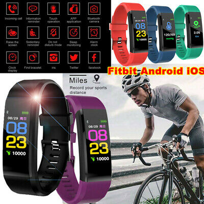 Fitness Smart Watch Activity Tracker Fitbit Android iOS Heart Rate Men Kids UK