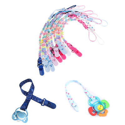 1Pc Newborn baby pacifier clips chain strap soother nipple holder pram hook XM