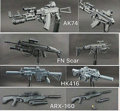 "1//6 Scale Rifle Assembly Weapon Set Gun Model Toy Fit 12/"" Figure Body 8X"