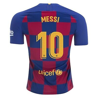 Nike Lionel Messi Barcelona Vaporknit Vapor Match Home Jersey 2019/2020 Patches