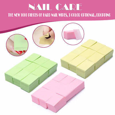 LN_ Nail Art Manicure Polish Remover Lint Free Cleaner Wipes Cotton Pad Paper