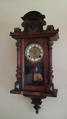 Antique Vienna Wall Clock With Pendulum.