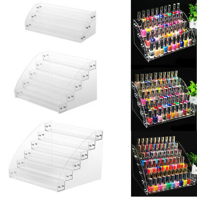 Ln_ Clear Nail Polish Rack Organizer Display Holder Shelf Cosmetic Varnish Sta