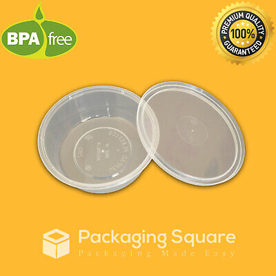 Take away Round Containers Takeaway Food Plastic Containers 220ml 280ml 440ml