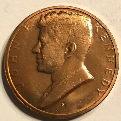JOHN F. KENNEDY JFK Inaugurated President Copper Coin Token Coin Medal