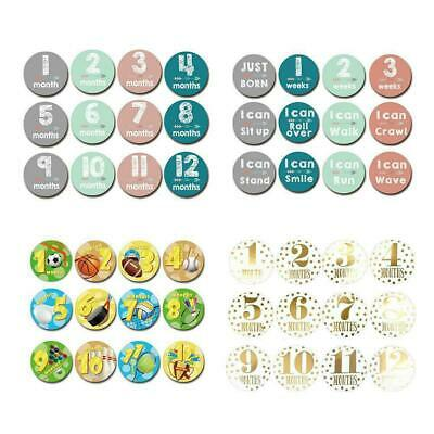 Baby Pregnant Women Monthly Photograph Sticker Month Milestone Sticker 1-12 W1R5