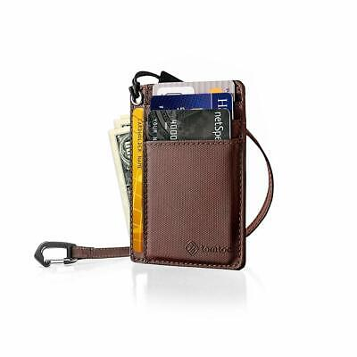 tomtoc Slim Front Pocket Wallet with Chain Minimalist Leather Credit Card Hol...