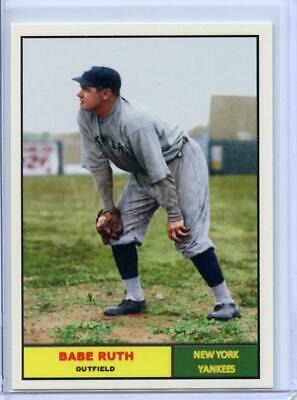 BABE RUTH - 2018 ALL-AMERICAN STARS - 1961 TOPPS LOOKaLIKE - COLLECT ENTIRE SET