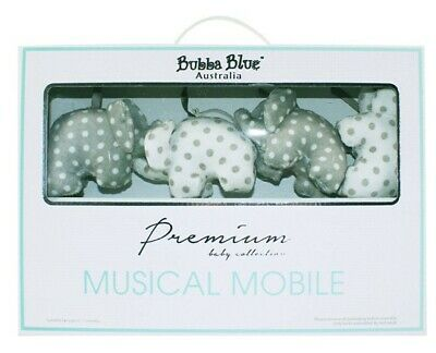 Bubba Blue Petit Elephant Musical Mobile