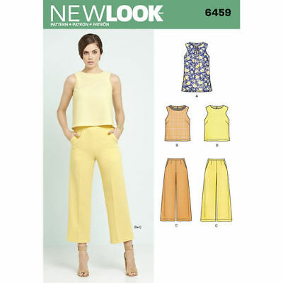 New Look Sewing Pattern 6459 Misses Size 8-20 Tunic or Top and Cropped Pants