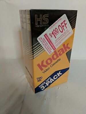 KODAK VHS Video Cassette Tapes SET OF 3 tapes T-120 High Standard