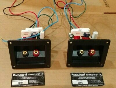 Pair of PARADIGM MINI MONITOR V.2 Crossovers 2-Way Fully Tested!