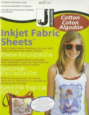 Jacquard Inkjet Printable Fabric Sheets 100% Cotton - 10ct Package