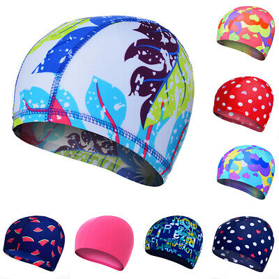 UK Swimming Cap Waterproof Silicone Swim Pool Hat for Adult Men Long Hair Women