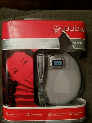 Rare NIB HTF Virgin Pulse Portable Personal CD Player Walkman Discman Skip proof