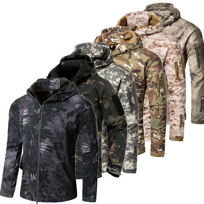 UK Waterproof Army Camouflage Jacket Military Tactical Soft Shell Jackets Coat
