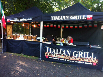 Gazebo Mobile Catering Kiosk Heavy Duty With Branding Marquee Market Stall Popup