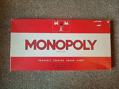 Vintage Monopoly Board Game - 1972 Edition - Inc All Tokens, Cards, Hotels Etc