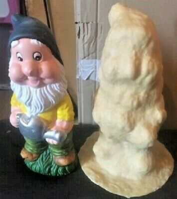 Large Latex Gnomes Mold Mould Crafts Gifts Garden Ornament