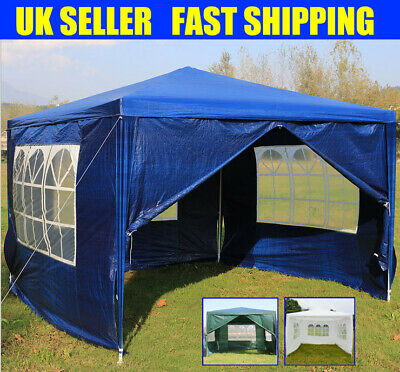 3x3m Heavy Duty Stronger FULLY WATERPROOF Gazebo Wedding Party Tent with 4 Sides