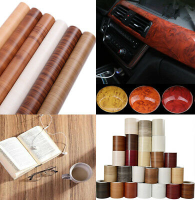 Wood Vinyl Wrap Self Adhesive Grain Film Sticker Decal For