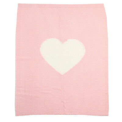 LONSANT Newborn Knitting Blanket cute Baby Love heart Quilt Infant Kids soft