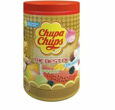 CHUPA CHUPS 100 Tube of Lollipops Assorted Flavour Bulk Lollies Jar 12G