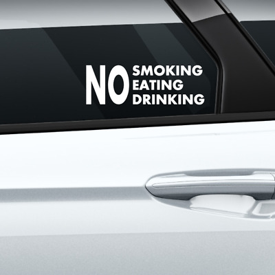 SKU3144 3 x No Eating Drinking CCTV Fitted Taxi Stickers Minicab Cab Notice