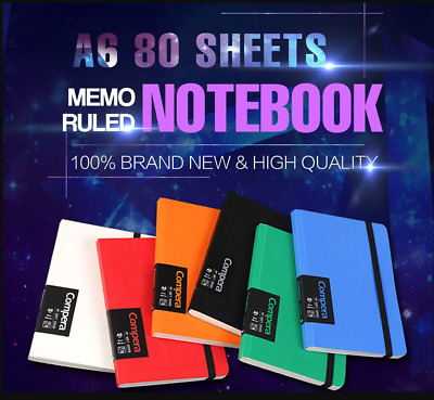 A6 80 Sheets Memo Ruled Notebook Journal Diary Notepad Planner Office Stationery