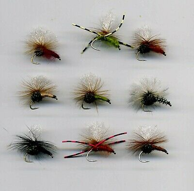 trout fly 6 No Pearl ribbed Cruncher size 16 REF N12b