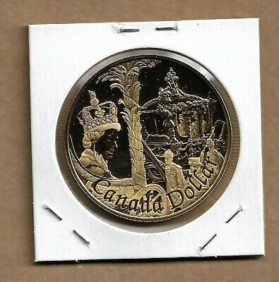 2002 Canada Silver Dollar From Proof Set Sterling Silver Gold Plated