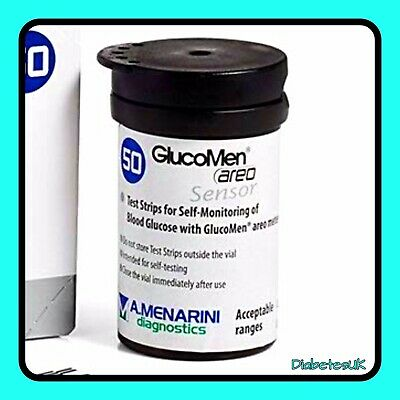Glucomen Areo Test Strips - For Glucomen Areo and 2K Meters - 1 x 50 - RRP £35
