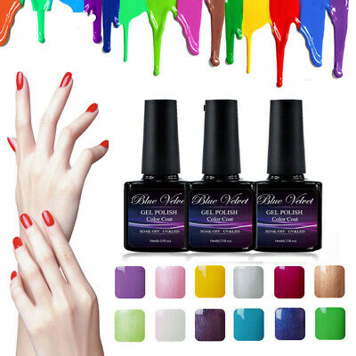 100 Colours Gel Polish Soak off UV LED Manicure Nail Art Top Base Coat Xmas Gift