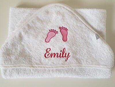 Personalised embroidered hooded baby towels