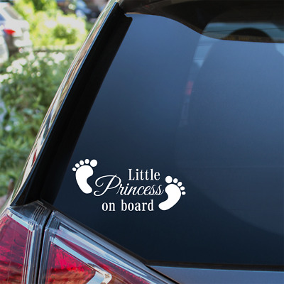 Little Princess On Board Car Sticker Child Baby On Board Window Bumper Decal