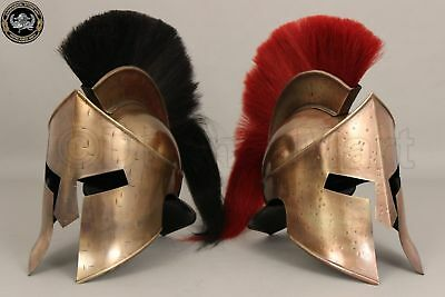 Combo Medieval King Leonidas Spartan Helmet 300 Movie Helmet Halloween Costume