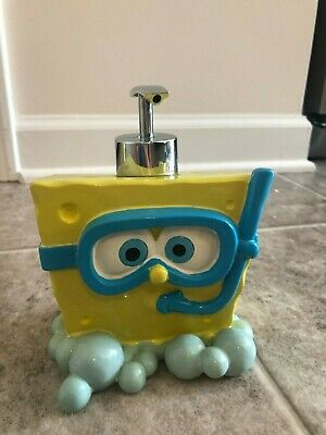 Sponge Bob Soap Dispenser and  Tooth Brush Cup For Bathroom