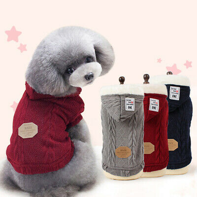 Double Layer Pet Clothes Winter Dog Costume Sweater Puppy Clothing Pet Sweaters