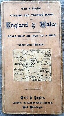 Gall & Inglis Cycling & Touring map No.53 BARNARD CASTLE c.1900