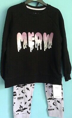 BNWT Girls M&S pyjamas age 5-6 years HALLOWEEN COTTON