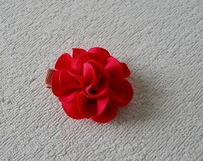 Pink Orchid Flower Hair Clip Slide Grip Prom Ball Vintage Pinup 50s Rockabilly