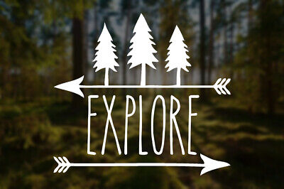 """Mountain Life vinyl decal//sticker camping hiking outdoors woods 8/""""wide ×2.6/""""tall"""