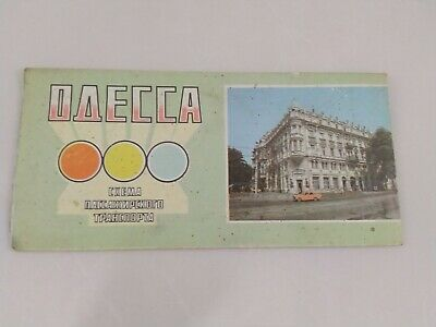 Odessa, paper diagram of passenger transport and a map of the city.