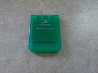 Official Sony Playstation 1 PS1 PSOne Memory Card 1MB SCPH 1020 Emerald Green