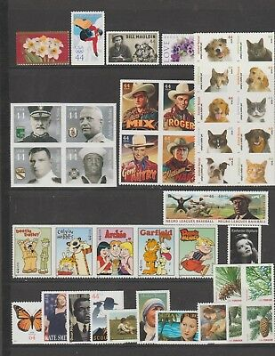 U.S. 2010 Commemorative Year Set, 42 stamps, all mint never hinged Very Fine