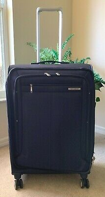 "Samsonite Lamont 25"" Expandable Checked Spinner Luggage Softside Checked NWOT"