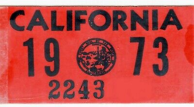 AUTHENTIC 1968 68 California License Plate Year Sticker TAG