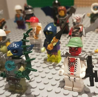 LEGO Mini Figures 10 Genuine Mixed Character MiniFigures Bundle with Accessories