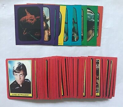 Star Wars Topps 1983 ROTJ Series 1 Lot of 70 Cards Plus 10 Stickers
